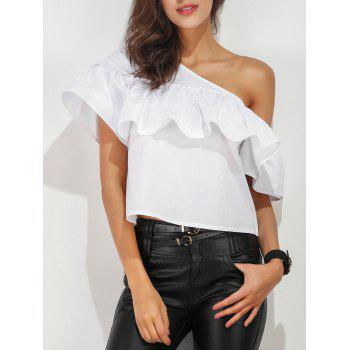 One Shoulder Ruffle Layer Blouse