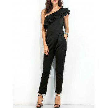 One Shoulder Layer Ruffle Jumpsuit