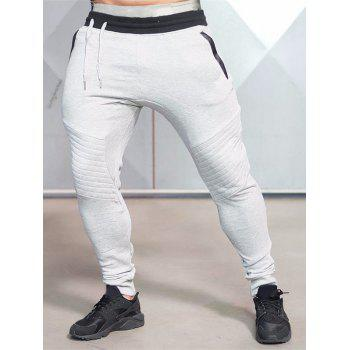 Contrast Waistband Drop Crotch Jogger Pants