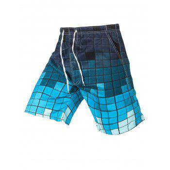 Drawstring Checked Casual Shorts