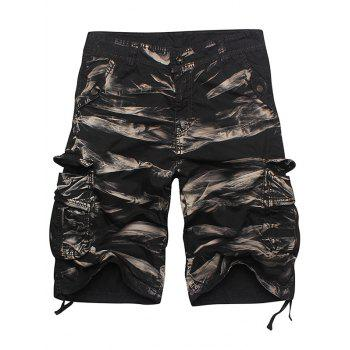 Zipper Fly Multi Pocket Cargo Shorts