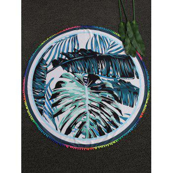 Palm Leaf Round Beach Throw - COLORMIX COLORMIX