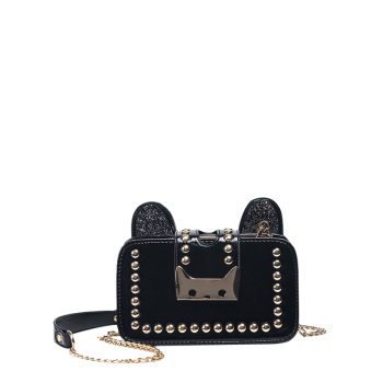 Rivet Sequin Chain Cross Body Bag