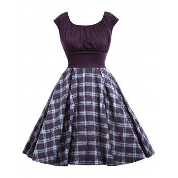 Checked Vintage A Line Dress