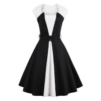 Vintage Two Tone Pin Up Dress
