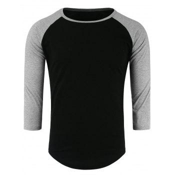 Panel Half Raglan Sleeve T-Shirt