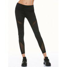 Mesh Panel Running Leggings