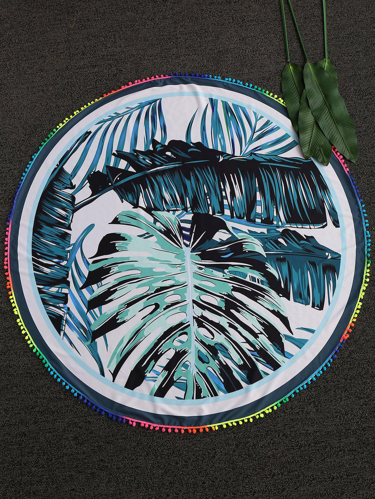 Palm Leaf Round Beach Throw - COLORMIX ONE SIZE