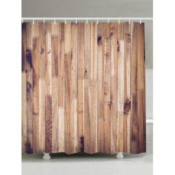 Wood Grain Design Fabric Shower Curtain