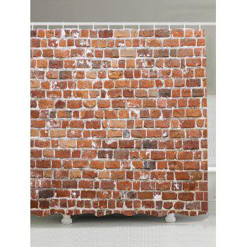 Brick Wall Design Anti-bacteria Shower Curtain