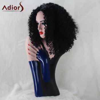 Adiors Medium Afro Curly Middle Part Synthetic Wig