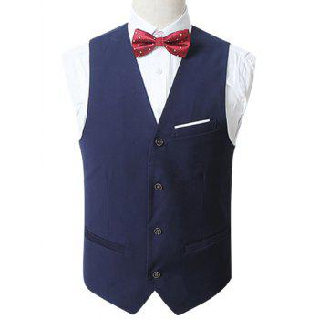 Button Up Slim Fit Formal Vest