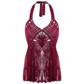 Halter Crochet Fringed Cover-Ups Swimwear