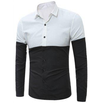 Button Up Two Tone Shirt