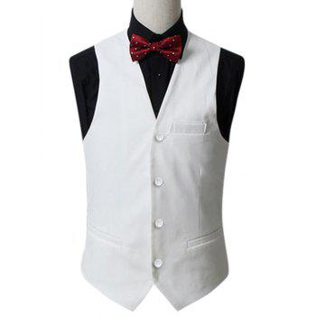 Button Up Slim Fit Gilet Formal