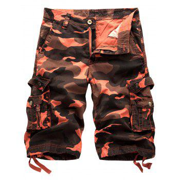Camo Multi Pockets Cargo Shorts