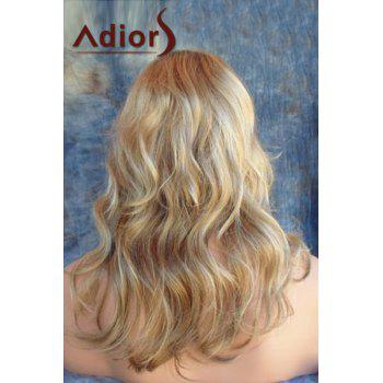Adiors Long Side Parting Shaggy Layered Wavy Color Mixed Synthetic Wig - COLORMIX