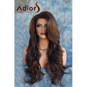 Adiors Fluffy Long Side Bang Wavy Synthetic Wig