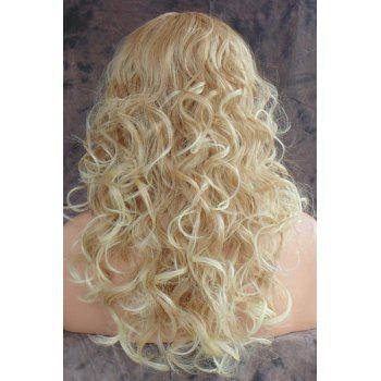 Charming Blonde Heat Resistant Synthetic Shaggy Curly Long Capless Wig For Women - LIGHT GOLD