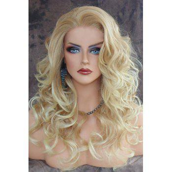Charming Blonde Heat Resistant Synthetic Shaggy Curly Long Capless Wig For Women