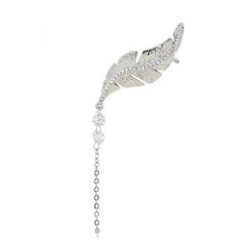 ONE PIECE Artificial Diamond Leaf Chian Cuff Earring