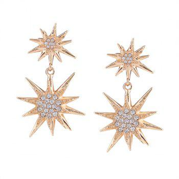 Rhinestone Sun Flower Drop Earrings