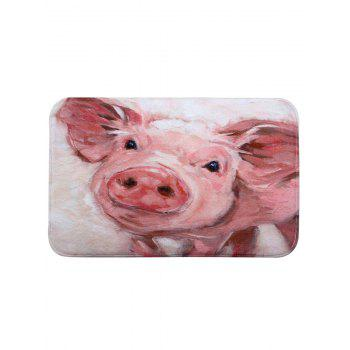 Cute Piggy Print Coral Fleece Bath Rug