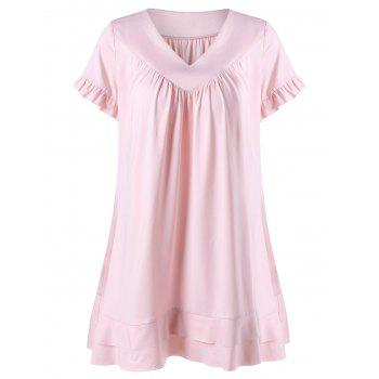 Flounced Trim Layered T-Shirt