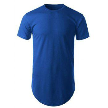 Curved Hem Short Sleeve T-Shirt