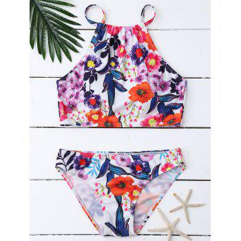 Floral High NeckBikini