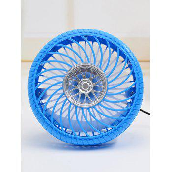 Portable USB Rechargeable Tire Shaped Mini Desk Fan