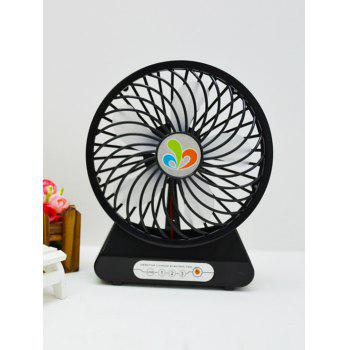 USB Recharge Adjustable Wind Speed Mini Desk Fan