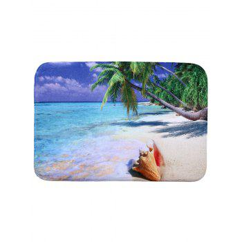 Beach Style Coral Fleece Rectangle Bathroom Mat