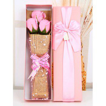Mothers Day Simulation Rose Soap Flowers with Gift Box