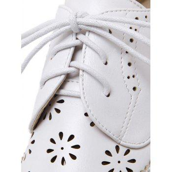 Évider Chaussures Wingtip Plate-forme - Blanc 39