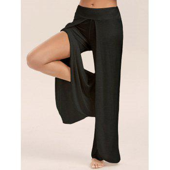 17 Off 2020 High Slit Palazzo Pants In Black Dresslily