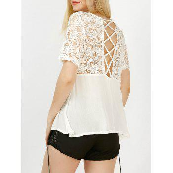 Criss Cross Lace Up Blouse