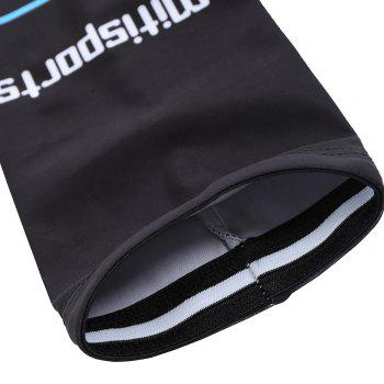 Striped Letter Cycling Arm Sleeves - BLACK BLACK