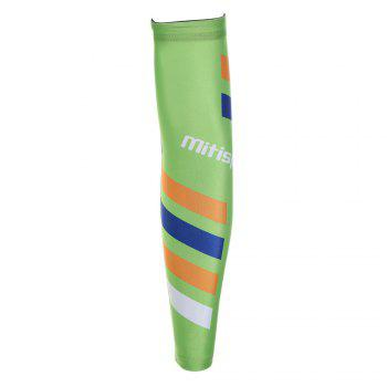 Striped Antislip Cycling Arm Sleeves - GREEN GREEN