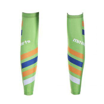 Striped Antislip Cycling Arm Sleeves - XL XL