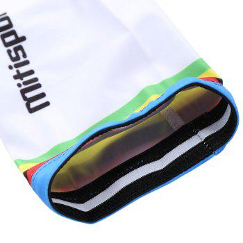 Lettern Striped Pattern Cycling Arm Sleeves - S S