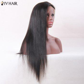 Siv Hair Long Straight Middle Part Lace Frontal Human Hair Wig