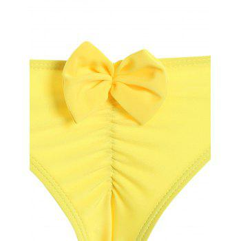 Froncé Retour bowknot Swim Bottom - Jaune XL
