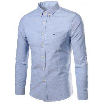 Long Sleeves Pocket Button Down Shirt