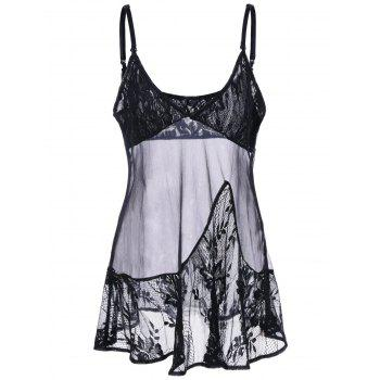 Empire Waist Lace Insert Babydoll