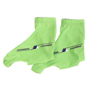 Zipper Letter Pattern Cycling Shoe Covers - GREEN GREEN