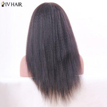 Siv Hair Long Lace Frontal Human Hair Yaki Straight Wig - NATURAL COLOR NATURAL COLOR
