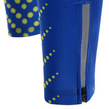 Striped Polka Dot Zipper Reflective Cycling Leg Sleeves - L L