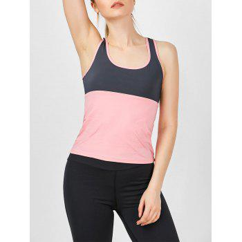 Two Tone U Neck Running Athletic Vest