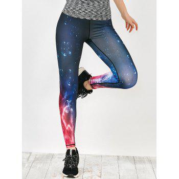Bubble Galaxy Printed Sports Leggings